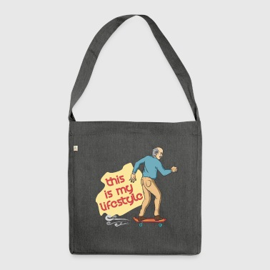 skateboarder grandfather - Shoulder Bag made from recycled material