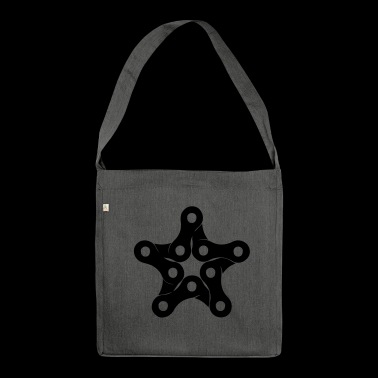 Star of a bicycle chain, chain links - Shoulder Bag made from recycled material