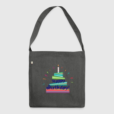 Happy Birthday! - Schultertasche aus Recycling-Material