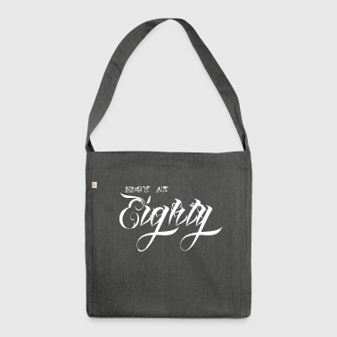 80th birthday: Edgy At Eighty - Shoulder Bag made from recycled material