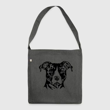 AMERICAN STAFFORDSHIRE PORTRAIT - Shoulder Bag made from recycled material