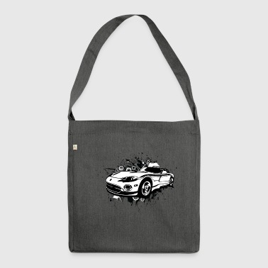 Amazing mucular cabriolet sportscar white - Shoulder Bag made from recycled material