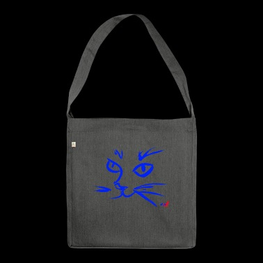 Muzzle CAT BLUE - Shoulder Bag made from recycled material