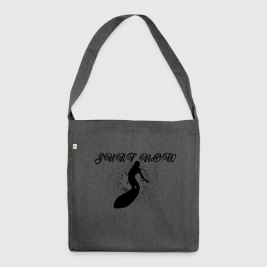Surfer girl black - Shoulder Bag made from recycled material