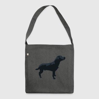 Labrador standing - Shoulder Bag made from recycled material