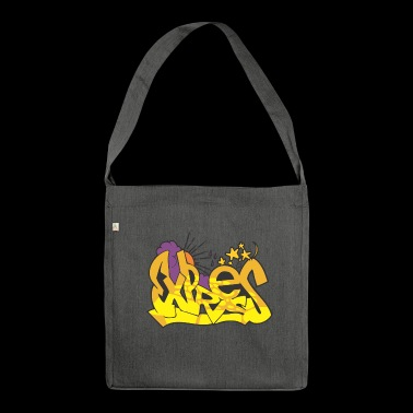 express graffiti - Shoulder Bag made from recycled material