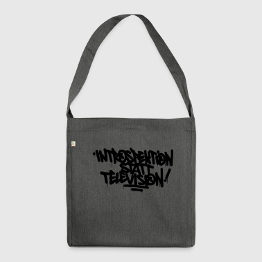 Introspektion statt Television - Schultertasche aus Recycling-Material