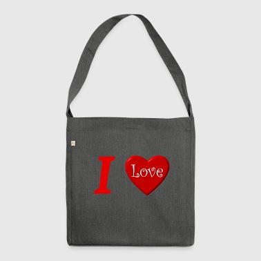 I love I love in Love - Shoulder Bag made from recycled material