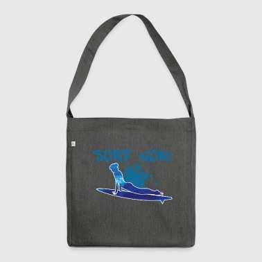 surfer girl 3 01 - Shoulder Bag made from recycled material