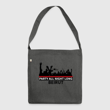Party All Night Long Beirut - Shoulder Bag made from recycled material