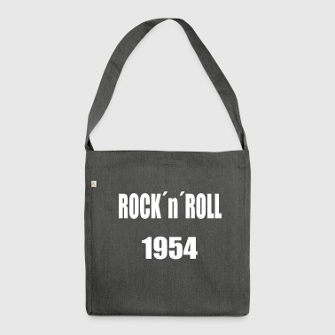 Rocknroll White - Shoulder Bag made from recycled material