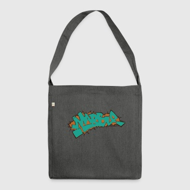 marmo graffiti blu - Borsa in materiale riciclato