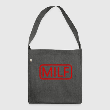 MILF (MILF) postmark logo - Shoulder Bag made from recycled material