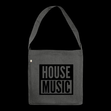 house music - Schultertasche aus Recycling-Material