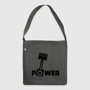 Piston power engine piston force - Shoulder Bag made from recycled material
