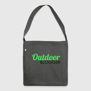 Outdoor blogger - Shoulder Bag made from recycled material