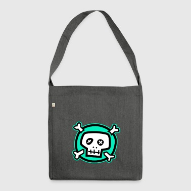 Green skull-Green skull - Shoulder Bag made from recycled material