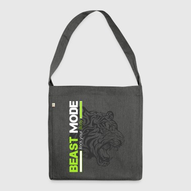 Fitness - Beast Mode Tiger - Schultertasche aus Recycling-Material