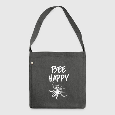 ++Bee Happy++ - Schultertasche aus Recycling-Material
