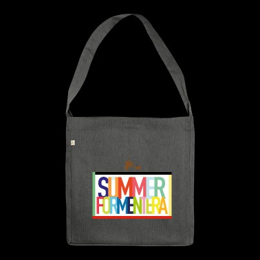 Summer Formentera - summer holiday Balearic Islands - Shoulder Bag made from recycled material
