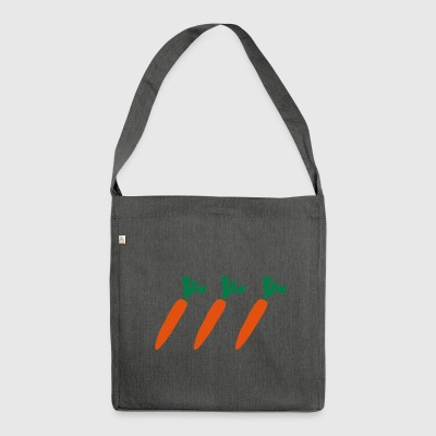Carrot or carrot gift - Shoulder Bag made from recycled material