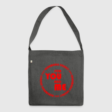 RENEWABLE ENERGY for you and me - red - Shoulder Bag made from recycled material