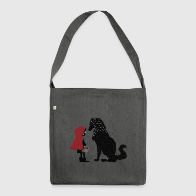 Little Red Riding Hood and the bad wolf - Shoulder Bag made from recycled material
