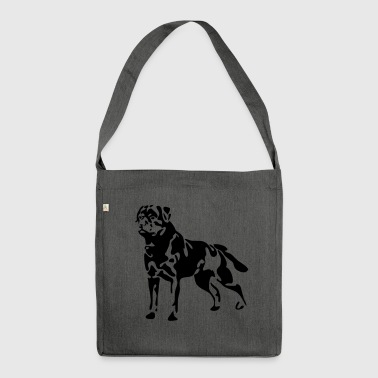 Rottweiler standing - Shoulder Bag made from recycled material
