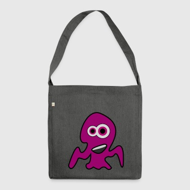 Little Octopus Monster - Shoulder Bag made from recycled material