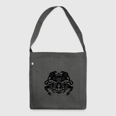 Borneo-shirt.: Sneering beast black - Shoulder Bag made from recycled material