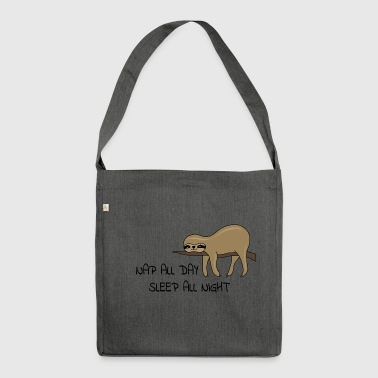 Sloth Napping - Shoulder Bag made from recycled material