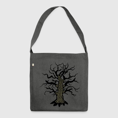 Celtic tree celtic tree - Shoulder Bag made from recycled material