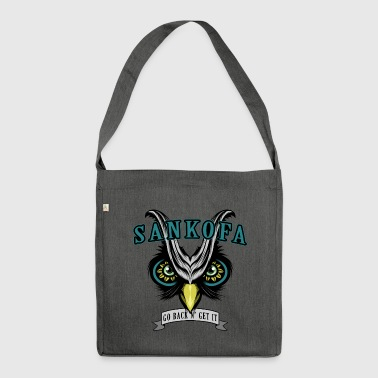 Sankofa Wisdom - Shoulder Bag made from recycled material