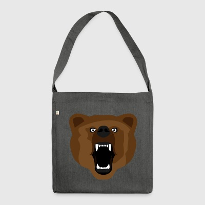 Bear / Bear / Медвед / aggressivo - Borsa in materiale riciclato