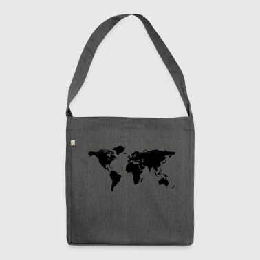 map of the world - Shoulder Bag made from recycled material