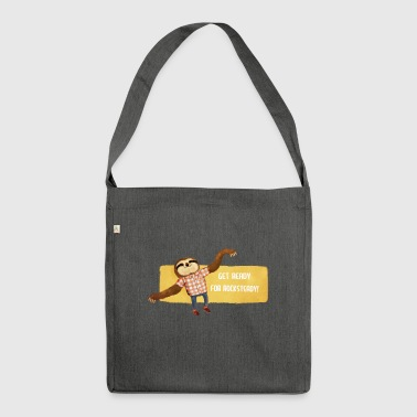 Rocksteady Sloth Buttons - Shoulder Bag made from recycled material