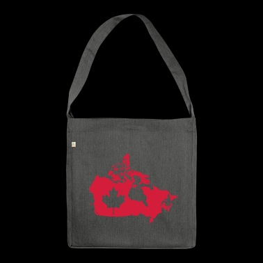 Canada Map - Canada Map - Shoulder Bag made from recycled material