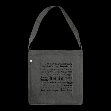 European capitals - Shoulder Bag made from recycled material