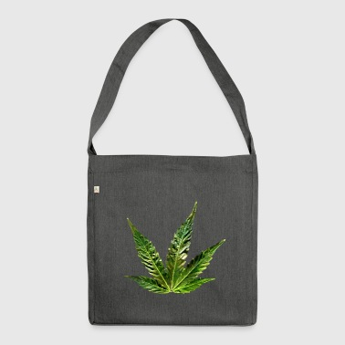 hemp leaf - Shoulder Bag made from recycled material