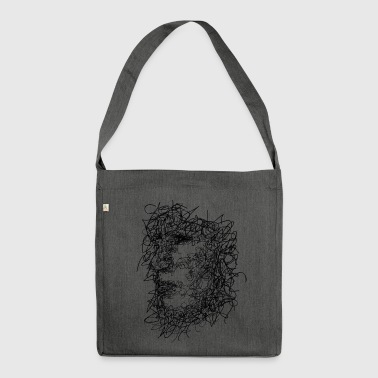 Face Scribbling - Shoulder Bag made from recycled material