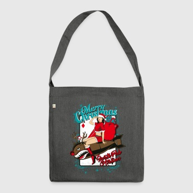 SEX BOMB AIRLINE - Christmas pin-up bombshell - Shoulder Bag made from recycled material