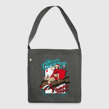 NORTH POLE AIRLINES - Christmas pin-up bombshell - Shoulder Bag made from recycled material