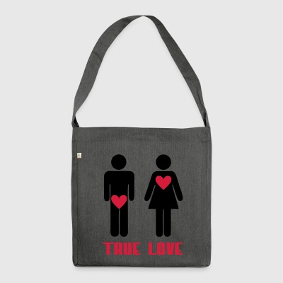 die wahre Liebe - Schultertasche aus Recycling-Material
