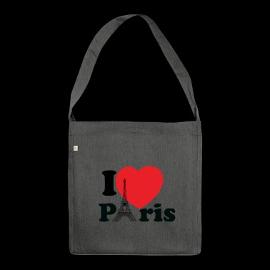 Statement: I Love Paris - Schultertasche aus Recycling-Material