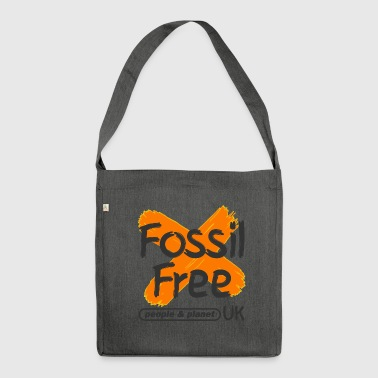Fossil-Free-square-transparent background - Shoulder Bag made from recycled material