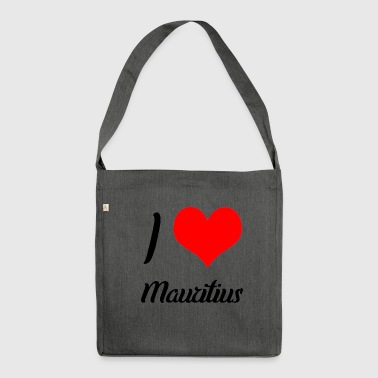 I love Mauritius - Shoulder Bag made from recycled material