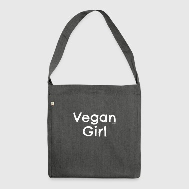 "Vegan T-shirt ""Vegan Girl"" - Shoulder Bag made from recycled material"