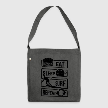 Eat Sleep Surf Repeat - Surfers planche de surf - Sac bandoulière 100 % recyclé