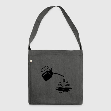 An oil can and oil drops  - Shoulder Bag made from recycled material