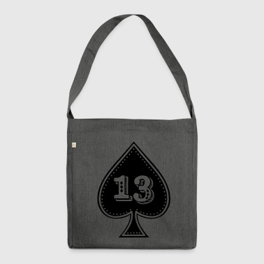 rocker design Ace of Spades with number 13 - Shoulder Bag made from recycled material